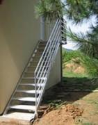 Escaliers aluminium - Droit - Avec palier - En quart tournant