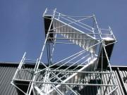 Escaliers aluminium chantier - Droits ou circulaires
