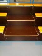 Escaliers d'accès 3 rangs - Largeur 1 mètre