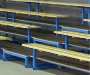 Escaliers d'accès 4 rangs - Matières : Métal poudré / Métal galvanisé, CTBX