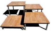 Estrade bois pour évènement - Dimensions cadres : 1.06 x 0.50m - Hauteur : 0.22 m