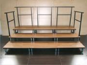 Estrade modulable - Dimensions cadres: 1 x 1m - Hauteur pieds : De 20 à 100 cm