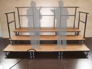Estrade modulaire - Dimensions cadres : 1 x 0.50m  - Hauteur pieds : 20 - 40 - 60cm