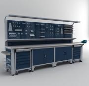 Établi armoire complet professionnel 3700 mm - Dimensions : 2050 x 3700 x 730 mm de profondeur