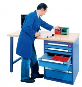 Etabli d'atelier 1 à 5 tiroirs - Nombre de tiroirs : 1 - 3 - 5