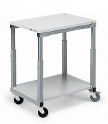 Etabli d'atelier roulant - Dimensions  (L x l x H)mm : 1000 x 700 x 650 - 900