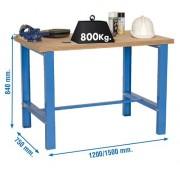 Etabli d'atelier simple - Charge utile : 800 kg