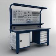 Établi de travail professionnel 2000 mm - Dimensions (hxlxprof) : 2050 x 2000 x 730 mm