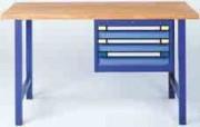 Etabli industriel - Bâti : en tôle d'acier - Largeur 600 mm - Profondeur 695 mm - Hauteurs De 180 à 800 mm