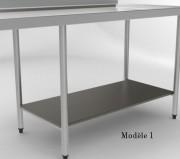 Etagère basse à claies ou pleine - Longueur table  850 à 2750 mm
