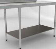 Etagère basse sur mesure - Longueur table: 1250 à 2850 mm