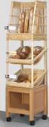 Étagère mobile baguettes et pain - Dimensions : 50 x 50 x 200