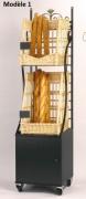 Étagère mobile modulable baguettes - Dimensions : 50 x 50 x 200 - Métal