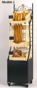 Étagère mobile modulable pains spéciaux - Dimensions : 50 x 50 x 200 - Métal