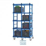 Etagere mobile range bacs - Dimensions (L x l x h) : 150 x 60 x 120 cm