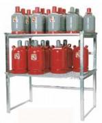 Étagères pour les bonbonnes de gaz - Rayonnage extérieur