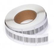 Étiquette adhésive antivol à radiofréquence - Étiquettes avec faux code-barre