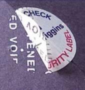 Etiquette adhésive de sécurité pour colis