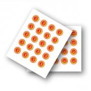 Etiquette adhésive pour crèmerie - Pochette de 60 pastilles adhésives