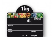 Etiquette commerce fruits et légumes - Dimensions (cm) : L 10 x l 15 - L 20 x l 15