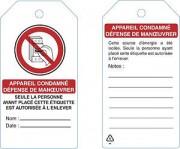 Étiquette de consignation - Étiquette en polypropylène