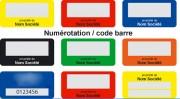 Étiquette de propriété aluminium - Format standard : 38x19mm / 45x25mm / 50x20mm