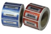 Etiquette de propriété Protector - Polyester alu mat - Adhésif renforcé acrylique solvant - Pelliculage en polyester brillant -