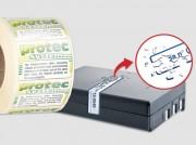 Etiquette de sécurité en acétate transparent destruct - Matière : Acétate transparent avery dennison