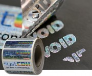 Etiquette de sécurité en polyester holographique Void - Matière : Polyester holographique