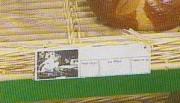 Étiquette effaçable alimentaire - Dim. ext. (cm) : L 19 x ht 5,5