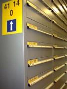 Étiquette et pancarte pour stockage d'archive - Pancarte sens unique