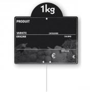 Étiquette fruits et légumes 4 saisons - Dimensions (L x l) cm : 15 x 10