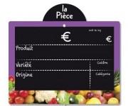 Etiquette fruits et légumes à disque poids - Dimensions (Lx l ) cm : 20 x 15 - 15 x 11