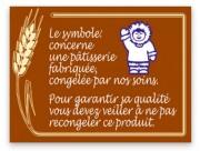 Etiquette info pâtisserie