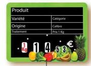 Etiquette magasin pour fruits et légumes