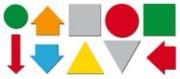Etiquette magnétique en symbole triangles - P 58151
