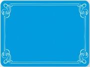 Etiquette neutre bleu décor liséré - Dimensions (L x l) cm : 8 x 6