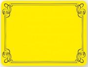 Etiquette neutre jaune décor liséré - Dimensions (L x l) cm : 8 x 6