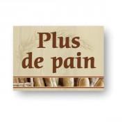 Etiquette pancarte pour boulangerie - Dimensions (cm) : 20 x 15