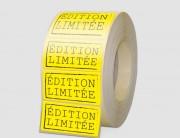 Étiquette papier fluo jaune - Matière : Papier fluo