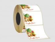 Étiquette Papier thermosensible thermique - Papier thermosensible couché blanc - Adhésif permanent acrylique solvant