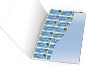 Étiquette personnalisable adhésive - Matière : Papier couché blanc