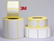 Etiquette personnalisable en polyester blanc Void 3M - Polyester blanc Void - 3M - Adhésive