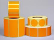 Etiquette personnalisable Orange Fluo - Papier fluo - Adhésive