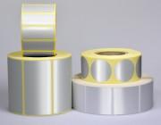Etiquette personnalisable polyester alu brillant - Polyester alu brillant - Adhésive