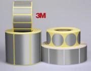 Etiquette personnalisable polyester alu mat 3M - Polyester alu mat - 3M - Adhésive