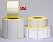 Etiquette personnalisable polyuréthane blanc Destruct - Polyuréthane blanc Destruct 3M - Adhésive