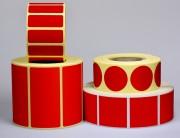 Etiquette personnalisable Rouge Fluo - Papier fluo - Adhésive