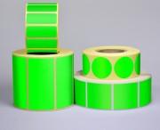 Etiquette personnalisable Vert Fluo - Papier fluo - Adhésive