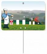 Etiquette pour boucherie avec photo - Dimensions (cm) : 8 x 12